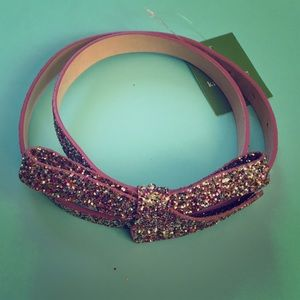 NWT Kate Spade Multi-Glitter Belt, Small